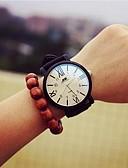 cheap Quartz Watches-Women's Wrist Watch Casual Watch / Cool Leather Band Charm / Fashion Black