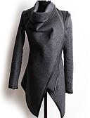 olcso Női felsőruházat-Közepes vastagságú - Szokványos - Hosszú ujj - Kabát (Gyapjú)