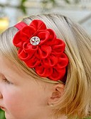 זול אביזרים לילדים-אביזרי שיער כל העונות רצועות ראש שיפון בנות - בז' אדום