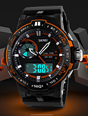 cheap Sport Watches-Men's Sport Watch Digital Watch Digital Alarm Calendar / date / day Chronograph Silicone Band Analog-Digital Charm Casual Black - Black Orange Blue Two Years Battery Life / LCD / Dual Time Zones