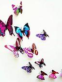 halpa Tyttöjen mekot-Eläimet Wall Tarrat 3D-seinätarrat Koriste-seinätarrat, Vinyyli Kodinsisustus Seinätarra Seinä