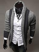 cheap Men's Sweaters & Cardigans-Men's Long Sleeve Wool Cardigan - Striped