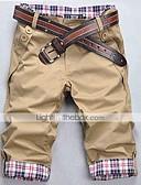 ieftine Pantaloni Bărbați si Pantaloni Scurți-Bărbați Casual Bumbac Larg / Zvelt / Pantaloni Chinos Pantaloni - Plisat Peteci Kaki / Primăvară / Vară