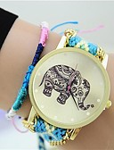 cheap Bracelet Watches-Women's Fashion Watch Chinese Tile Other Band Bracelet Watch Black Blue Grey Pink