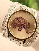 baratos Relógios de Pulseira-Mulheres Bracele Relógio Relógio de Pulso Quartzo imitação de diamante Couro Banda Desenho Fashion Branco / Azul / Vermelho - Branco Vermelho Azul