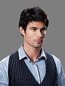 billige Herreskjorter-topp karakter Fuel kvalitet menneskelig hår menns parykker 4 farger å velge