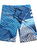 baratos Roupas de Banho Masculinas-Homens Calcinhas, Shorts & Calças de Praia - Listrado Shorts de Natação / 1 Peça / Sexy