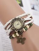 זול שעוני צמיד-yoonheel בגדי ריקוד נשים שעון צמיד שעונים יום יומיים עור להקה פרפר / בוהמי / אופנתי שחור / לבן / חום / שנה אחת / SODA AG4
