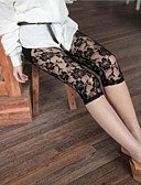 cheap Leggings-Women's Stitching Lace Legging - Lace Mid Waist