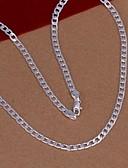 olcso Divatos fehérnemű-Nyakláncok - Ezüstözött Divat Ezüst Nyakláncok Kompatibilitás Esküvő, Parti, Napi