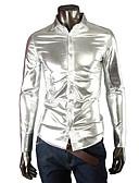 baratos Ternos & Blazers Masculinos-Homens Tamanhos Grandes Camisa Social - Bandagem Sólido Algodão Colarinho Clássico Delgado