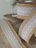 preiswerte Hochzeit Schals-Volltonfarbe Jüte Hochzeits-Bänder - 5M Stück / Set Wellenband Geschenk-Bogen Dekorativer Geschenkhalter Dekorative Geschenkbox