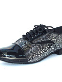 abordables Corbatas y Pajaritas para Hombre-Hombre Semicuero Zapatos de Baile Latino / Salón / Zapatos de Salsa Sandalia / Tacones Alto Tacón Cuadrado Personalizables Negro / Ante / EU42