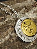 tanie Kwarcowy-Damskie Naszyjniki z wisiorkami - Księżyc, Serce Miłość, Serce 2#, 3#, Średni brąz Naszyjniki Biżuteria Na Dziękuję Ci, Cicha sympatia