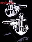 お買い得  メンズ・ベルト-スクリーンカラー カフスボタン 銀メッキ パーティー / オフィス / カジュアル コスチュームジュエリー 用途 パーティー / バケーション