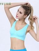 preiswerte Büstenhalter-Damen BH Sport BHs Drahtlos Push-Up Komplett bedeckend Nylon Elasthan, Blau Rosa
