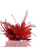 Χαμηλού Κόστους Αξεσουάρ κεφαλής για πάρτι-Σιφόν / Απομίμηση Μαργαριταριού / Δαντέλα Γοητευτικά / Λουλούδια / Καλύμματα Κεφαλής με Φλοράλ 1pc Γάμου / Ειδική Περίσταση / Causal Headpiece
