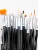 رخيصةأون قمصان رجالي-15PCS مقبض أسود مجموعة فرشاة الفن مسمار تصميم اللوحة رسم القلم&محفظة 5pcs 2-طريقة التنقيط الترخيم أداة القلم