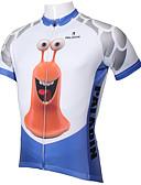 baratos Vestidos de Mulher-ILPALADINO Homens Manga Curta Camisa para Ciclismo - Azul / branco Desenho Animado / Animal Moto Camisa / Roupas Para Esporte, Secagem