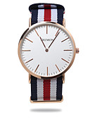 cheap Quartz Watches-Men's Ladies Fashion Watch Japanese Quartz 30 m Casual Watch Fabric Band Analog Casual Black / Blue / Red - Red Green Blue One Year Battery Life
