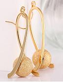 povoljno Kvarcni satovi-Žene Viseće naušnice Long Gyöngyök Ispustiti dame Elegantno Talijanski Pozlaćeni Naušnice Jewelry Zlato Za