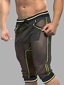 cheap Men's Exotic Underwear-Men's Mesh Super Sexy Long Johns Striped Mesh