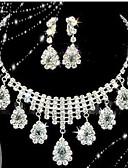 abordables Blusas para Mujer-Collar / Pendiente (Baño en Plata / Aleación / Piedra Preciosa y Cristal / Zirconia Cúbica)- Bonito / Fiesta para Mujer