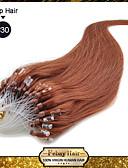 baratos Vestidos de Casamento-Febay Micro Extensão em Anel Extensões de cabelo humano Liso Clássico Cabelo Natural Remy Cabelo Humano Ruivo Escuro Loiro Loiro claro