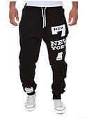 cheap Men's Exotic Underwear-Men's Active / Basic Cotton Loose Sweatpants Pants - Letter / Sports / Drawstring / Weekend