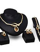 abordables Guantes de Fiesta-Mujer Topacio / Cristal Conjunto de joyas - Cristal Bohemio, Boho Incluir Dorado Para Boda / Fiesta / Anillos / Collare