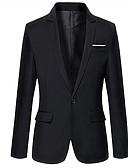 זול טרנינגים וקפוצ'ונים לגברים-אחיד מידות גדולות בלייזר-בגדי ריקוד גברים / שרוול ארוך / עבודה