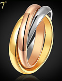 cheap Women's Pants-Women's Stack Ring - Stainless Steel, Gold Plated, Rose Gold Plated Vintage, Party, Work Rainbow For Daily