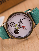 cheap Luxury Watches-Men's Wrist Watch Quartz Hot Sale / Leather Band Analog Vintage Casual Black / White / Blue - Green Blue Pink