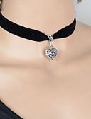 ieftine Eșarfe Femei-Pentru femei Coliere Choker / Coliere cu Pandativ / tatuaj cravată - Inimă, Iubire Stil Tatuaj, Ciucure Argintiu Coliere Bijuterii Pentru Mulțumesc, aleasă a inimii