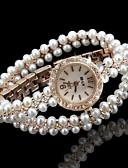 abordables Relojes de Moda-Mujer Reloj de Moda Reloj Pulsera Reloj creativo único Cuarzo Dorado La imitación de diamante Analógico Destello Bohemio Perlas Elegante - Blanco