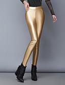 baratos Leggings para Mulheres-Mulheres Cintura Baixa Justas/Skinny Jeans Calças - Sólido