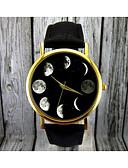 ieftine Ceasuri La Modă-Pentru femei Ceas de Mână Quartz Piele Negru / Maro faza Lunii Analog femei Modă Elegant - Negru Maro