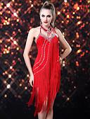 ieftine Rochii de Damă-Dans Latin Rochii Pentru femei Performanță Celofibră / Spandex Franjuri Fără manșon Rochie