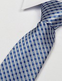 cheap Men's Ties & Bow Ties-Unisex Party Work Basic Polyester Necktie - Plaid