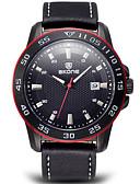 cheap Sport Watches-SKONE Men's Sport Watch Wrist Watch Quartz 300 m Water Resistant / Water Proof Calendar / date / day Analog Charm - Brown Black / White Black