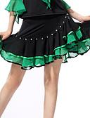 お買い得  ソシアルダンスウェア-ラテンダンス ドレス 女性用 性能 ポリエステル / スパンデックス ラッフル スカート / サンバ