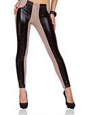 cheap Women's Pants-Women's Plus Size Cotton Skinny Jeans Pants - Color Block