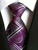 cheap Men's Ties & Bow Ties-Men's Party / Work / Basic Polyester Necktie - Geometric Jacquard / Cute / Multi-color