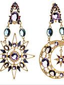 abordables Abrigos y Gabardinas de Mujer-Mujer Diamante sintético Pendientes colgantes - Zirconia Cúbica, Chapado en Oro, Diamante Sintético MOON Lujo, Europeo Pantalla de color Para