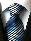 זול עניבות ועניבות פרפר לגברים-עניבת צווארון - פסים פוליאסטר מסיבה עבודה בסיסי בגדי ריקוד גברים
