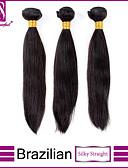 halpa Hääbolerot-3 pakettia Brasilialainen Suora / Classic Virgin-hius Hiukset kutoo Hiukset kutoo Hiukset Extensions