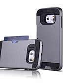 cheap Cellphone Case-Case For Samsung Galaxy S7 edge / S7 / S6 edge plus Card Holder Back Cover Solid Colored PC