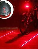 זול טוקסידו-לייזר LED פנסי אופניים פנסי אופניים פנסים ותאורה לאוהל פנס אחורי לאופניים - רכיבת הרים אופנייים רכיבת אופניים עמיד לחבטות אור LED קל לנשיאה אזהרה AAA 400 lm סוללה / אורות בטיחות