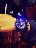 hesapli Spor Saat-Erkek Bilek Saati Quartz Silikon Siyah LED Analog İhtişam Eşsiz Yaratıcı İzle - Siyah / Beyaz Yeşil / Siyah Siyah / Mavi Bir yıl Pil Ömrü / Paslanmaz Çelik / SSUO 377