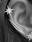 preiswerte Damen Schals-Damen Ohr-Stulpen Ohrring - Strass Stern Personalisiert, Europäisch, Modisch Silber Für Hochzeit Party Geschenk / 2pcs